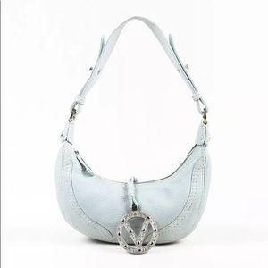 Valentino Garavani Silver Logo Charm Shoulder Bag